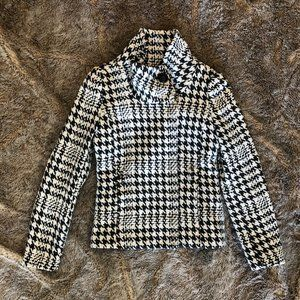 H&M Wool Houndstooth Peacoat